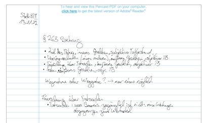 Ein digitalisierter Text im Rahmen vom Digitalstift Test
